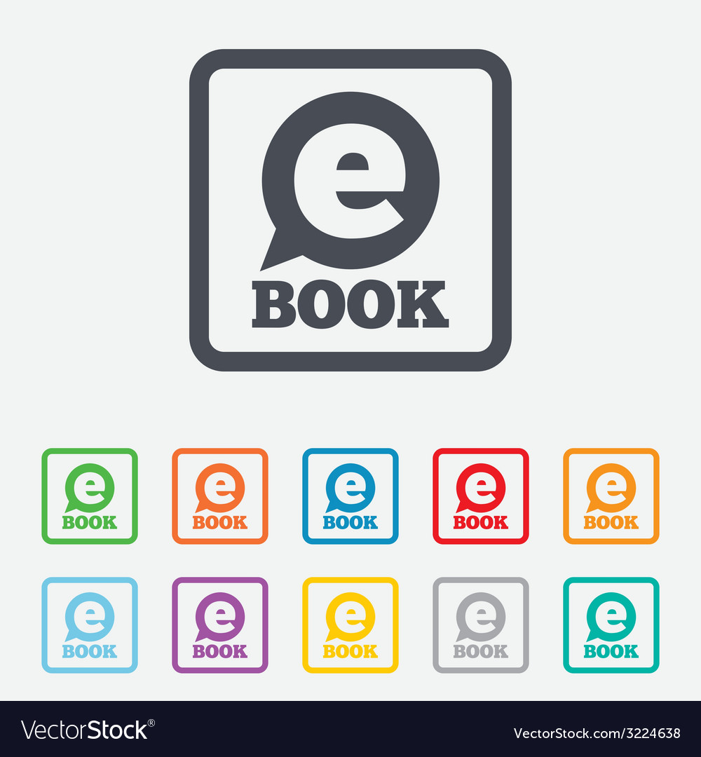 E-book sign icon electronic book symbol vector | Price: 1 Credit (USD $1)