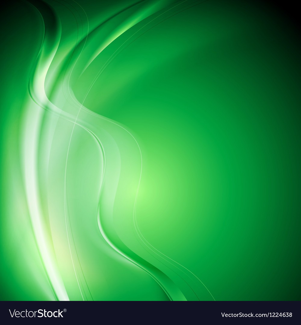 Elegant green wavy background vector | Price: 1 Credit (USD $1)