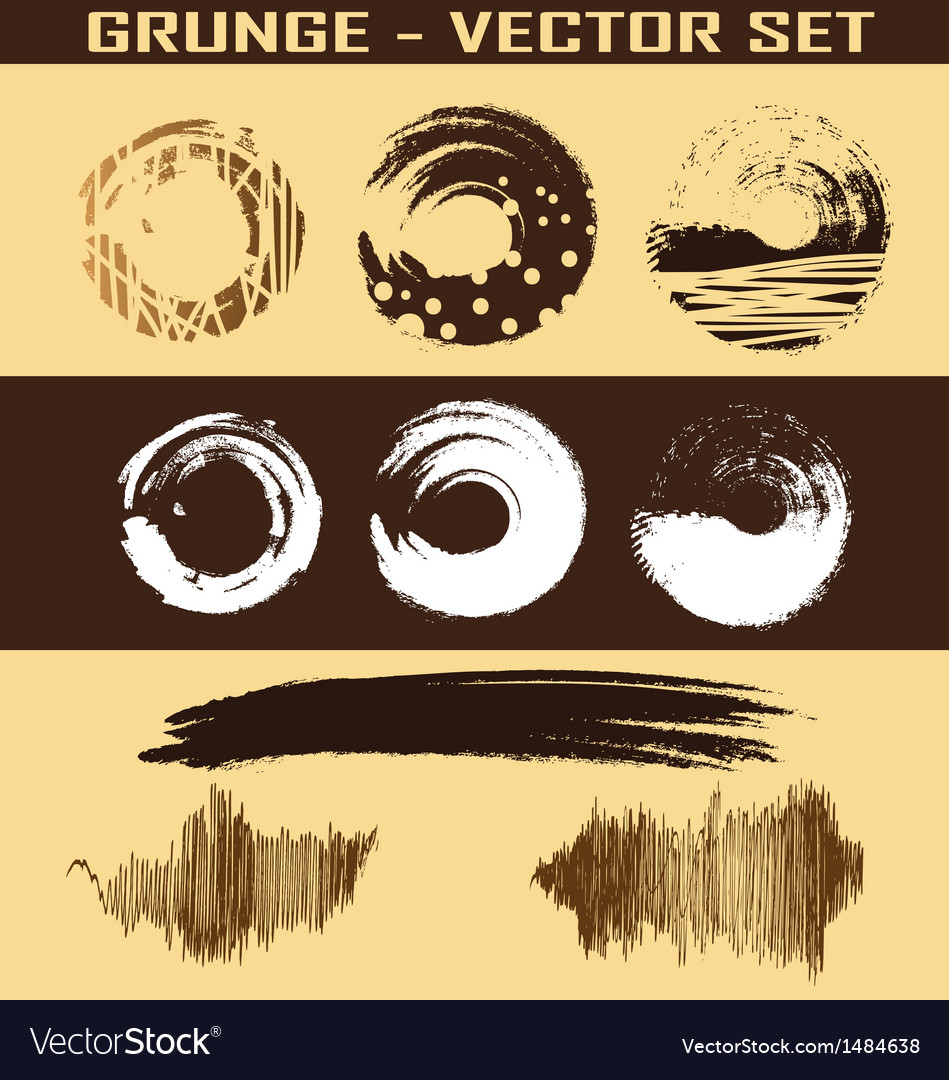 Grunge set vector | Price: 1 Credit (USD $1)