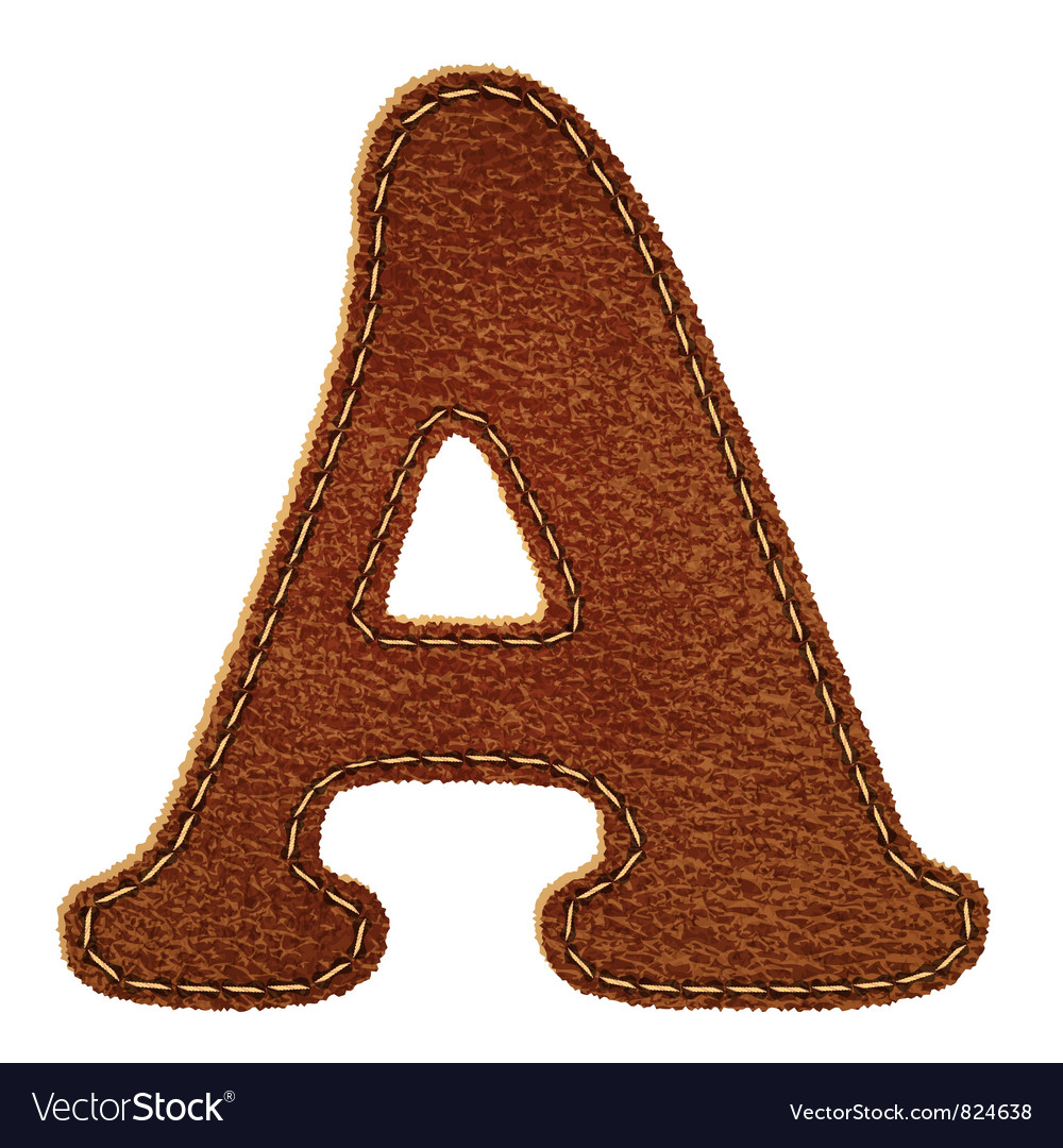 Leather textured letter a vector | Price: 1 Credit (USD $1)
