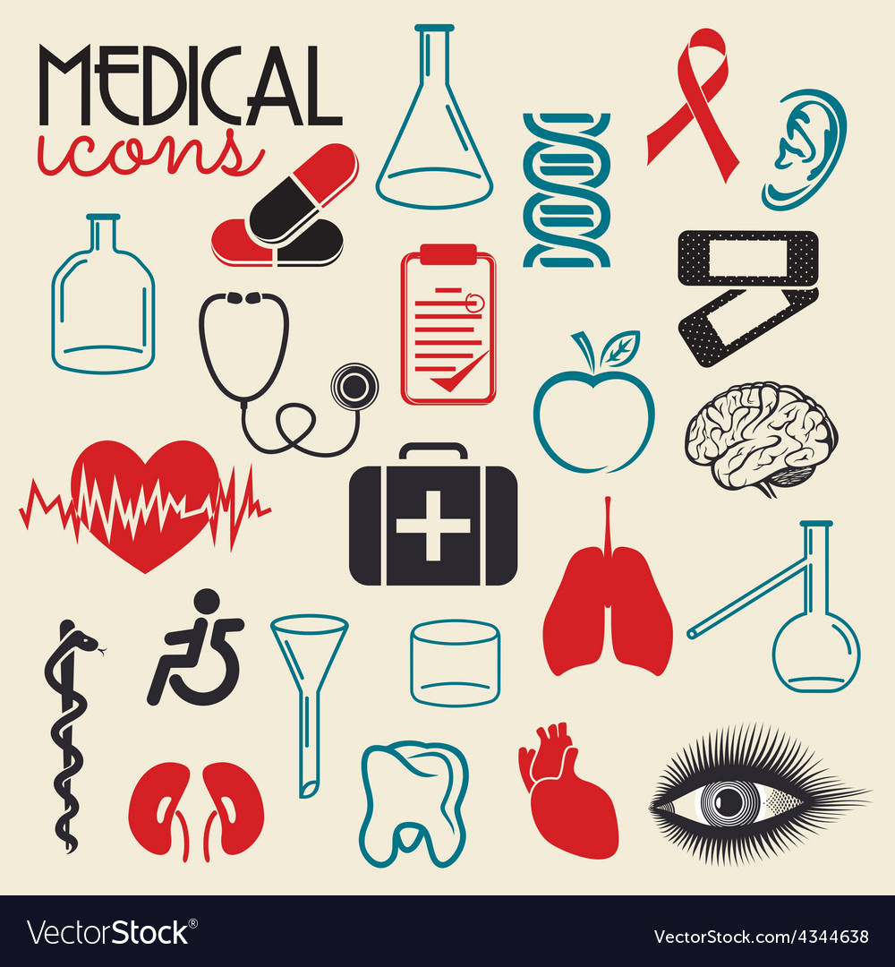 Medical elements resize vector | Price: 1 Credit (USD $1)