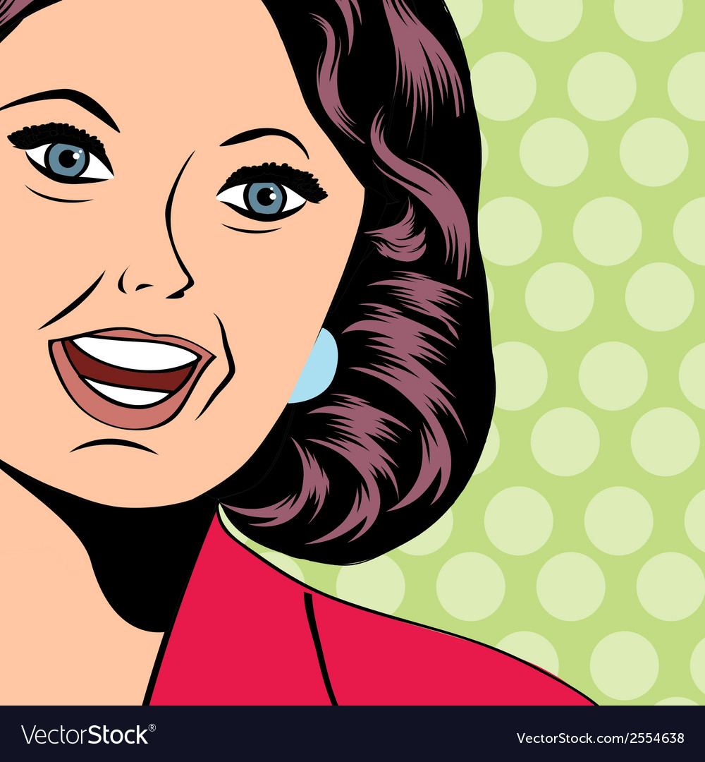 Pop art of a laughing woman vector | Price: 1 Credit (USD $1)