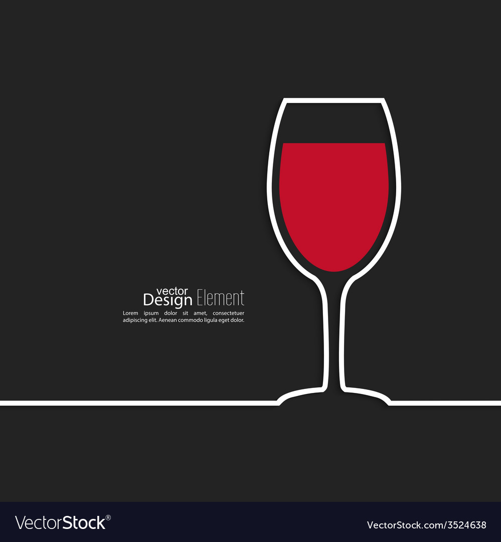 Ribbon in the form of wine glass with shadow and vector | Price: 1 Credit (USD $1)