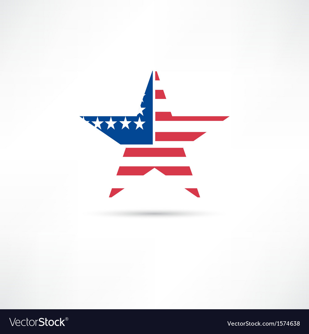 United states icon vector | Price: 1 Credit (USD $1)