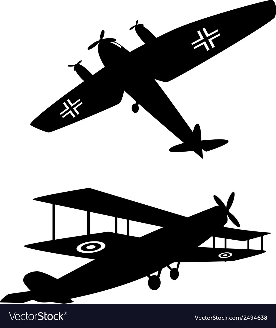 World war one planes vector | Price: 1 Credit (USD $1)