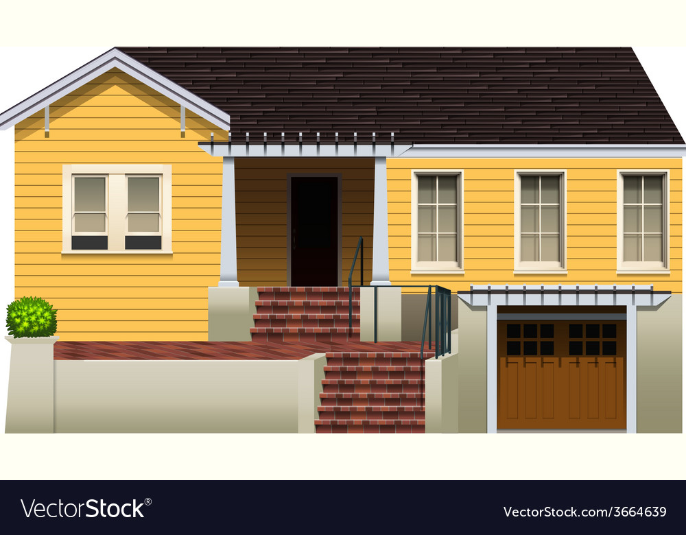 A residential property vector | Price: 3 Credit (USD $3)