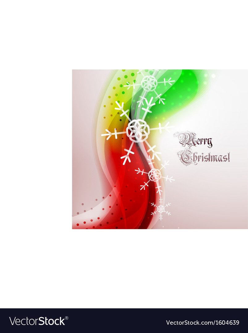 Abstract christmas wavy line background vector | Price: 1 Credit (USD $1)