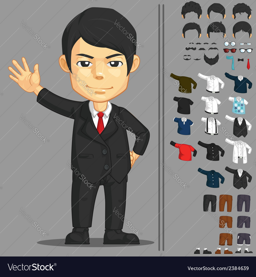 Businessman customizable character vector | Price: 1 Credit (USD $1)