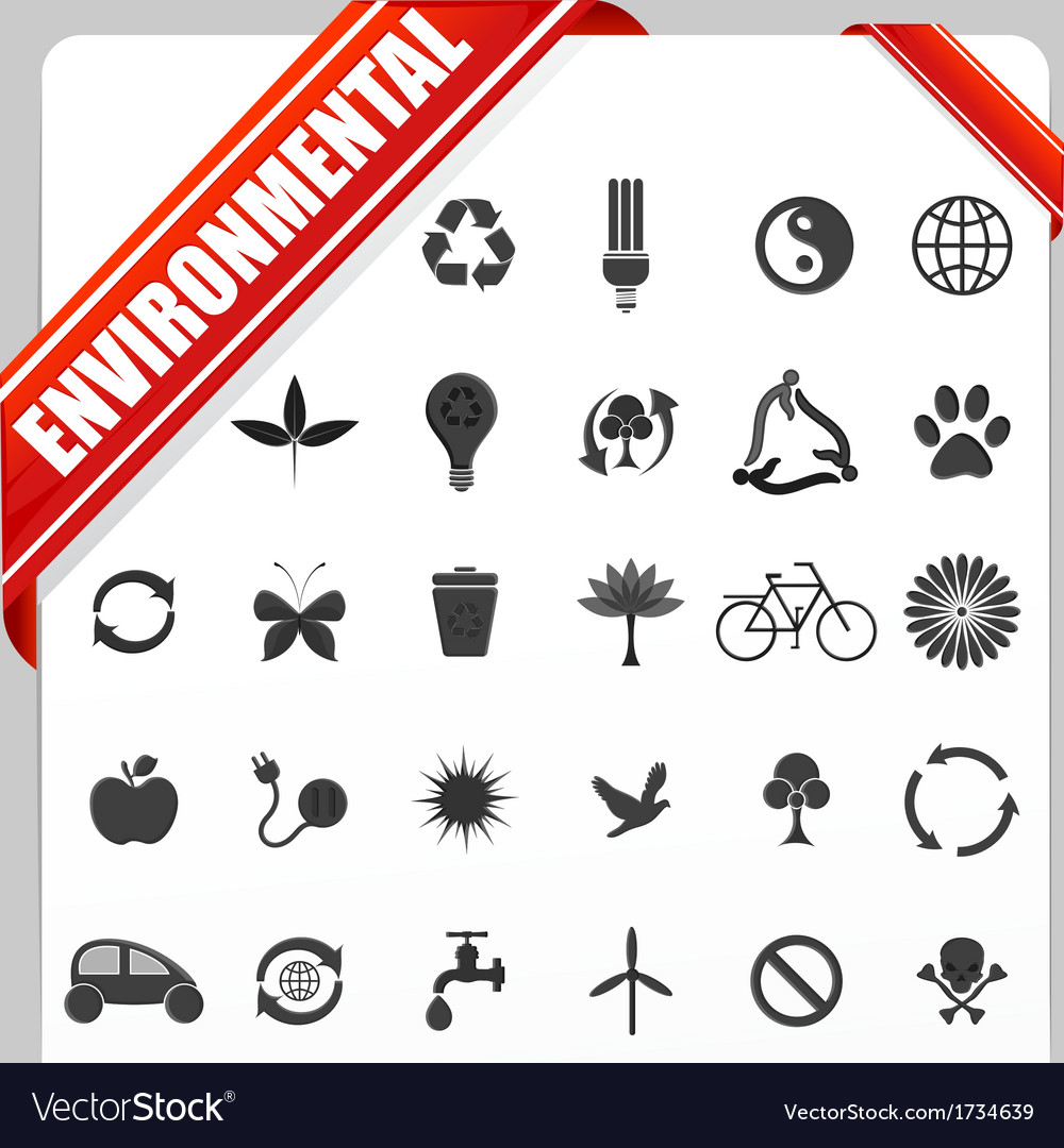 Enivornmental icon vector | Price: 1 Credit (USD $1)