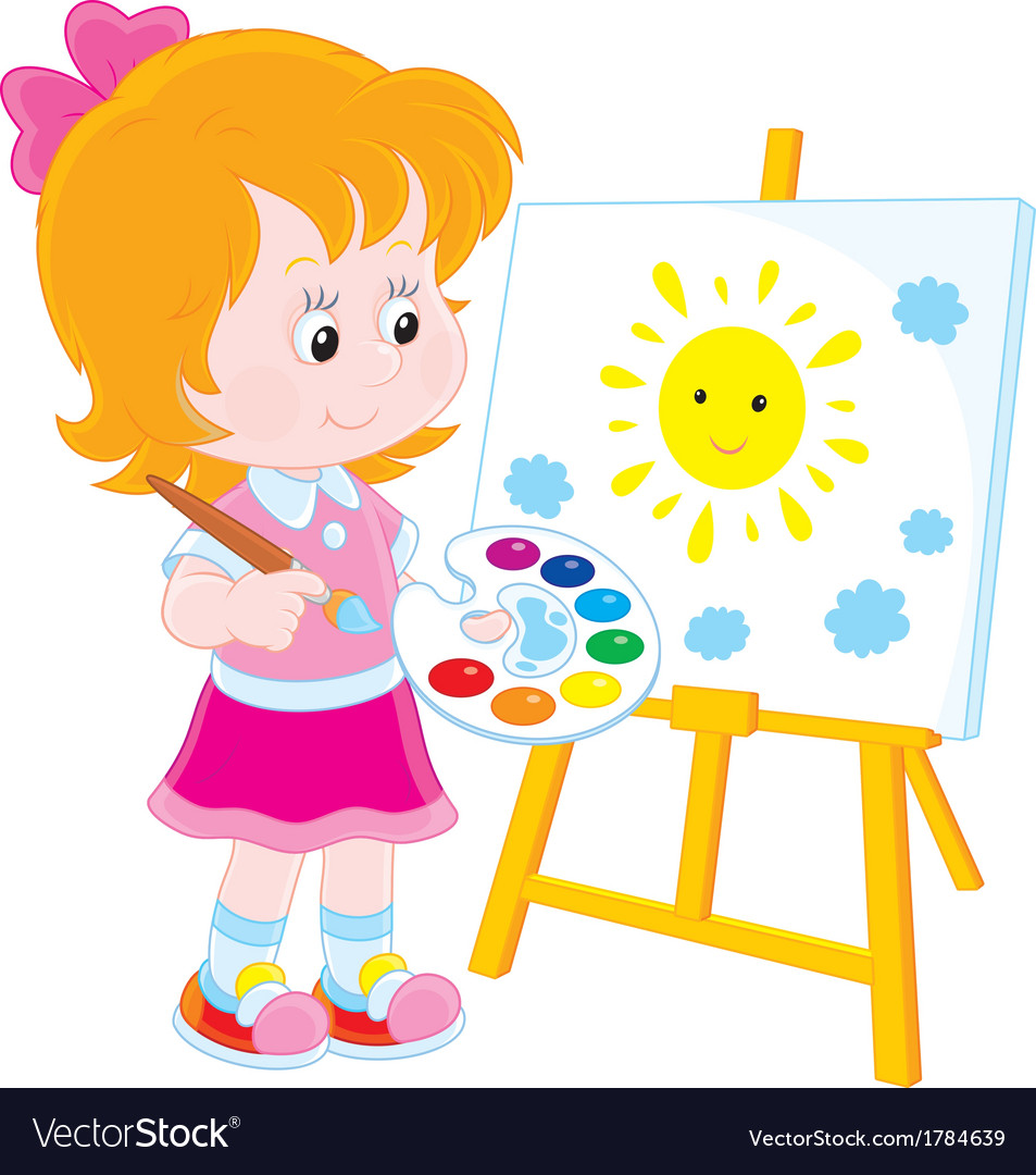 Little artist vector | Price: 1 Credit (USD $1)