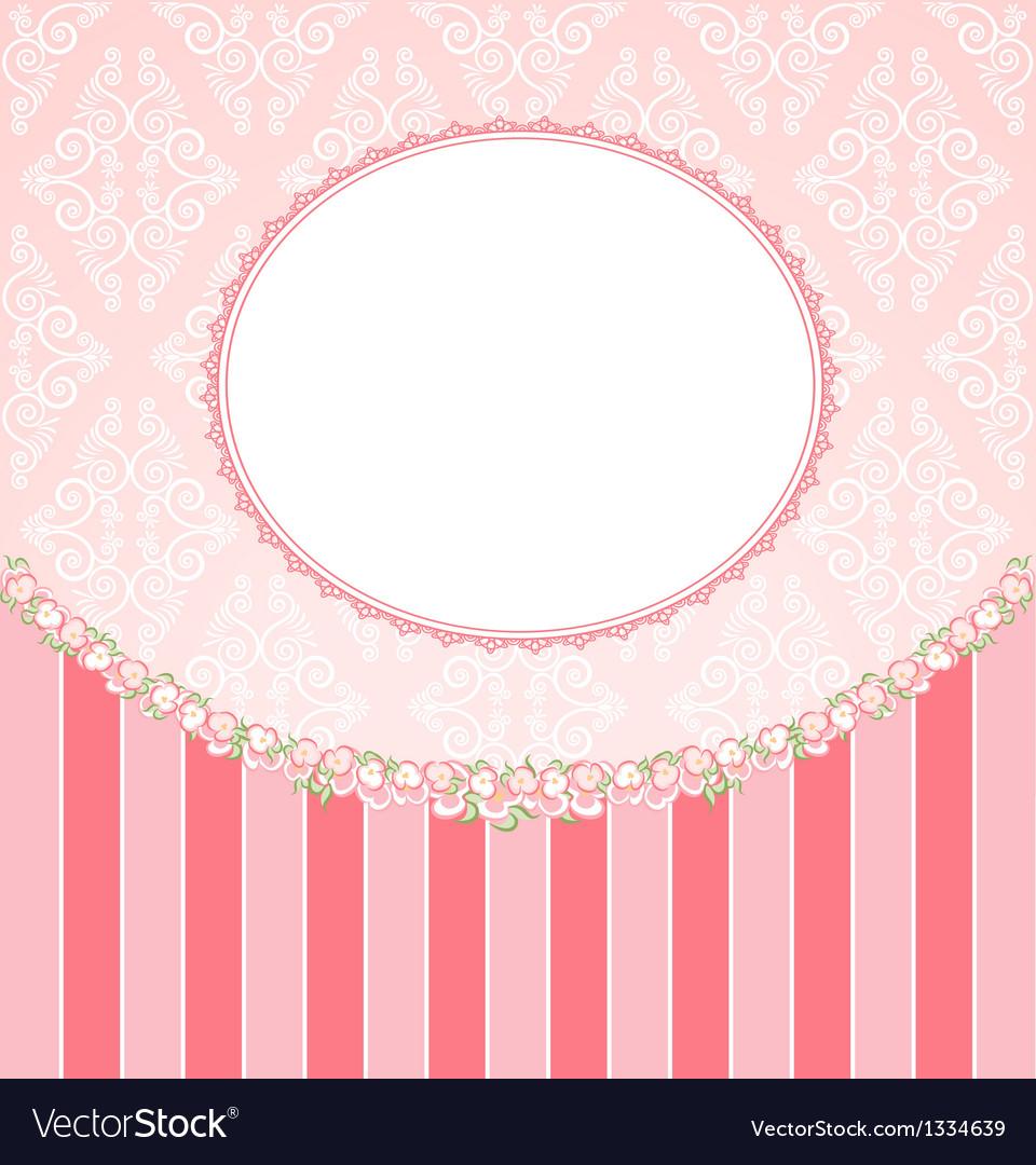 Ornate floral frame vector   Price: 1 Credit (USD $1)