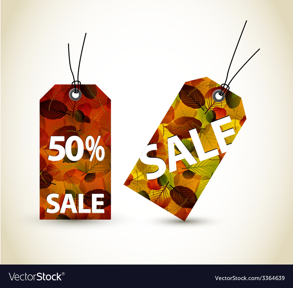 Set of autumn sale tags vector | Price: 1 Credit (USD $1)