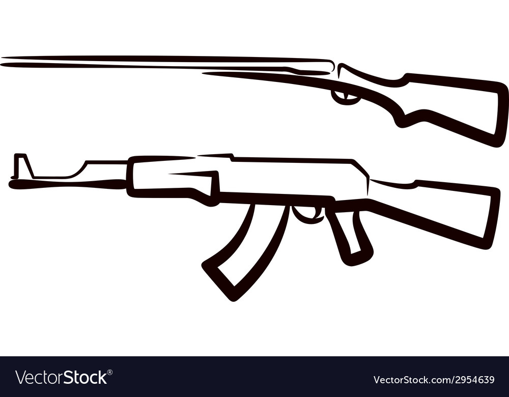 Set of guns vector | Price: 1 Credit (USD $1)