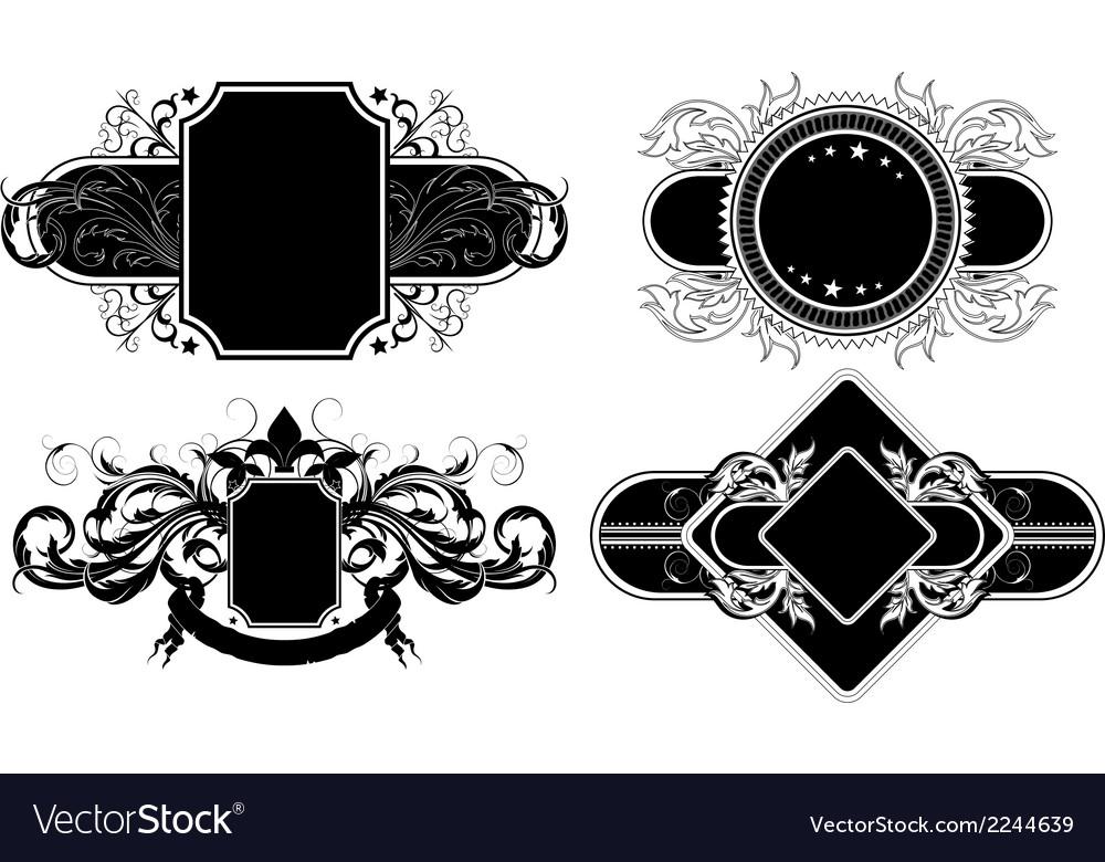 Set of ornamental elements vector | Price: 1 Credit (USD $1)