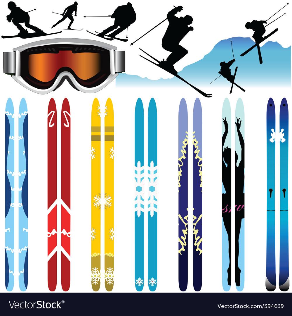 Ski vector | Price: 1 Credit (USD $1)