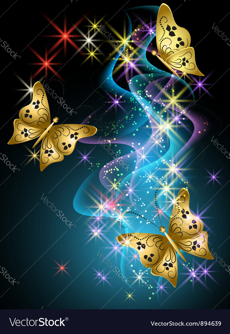 Smoke and butterfly vector | Price: 1 Credit (USD $1)