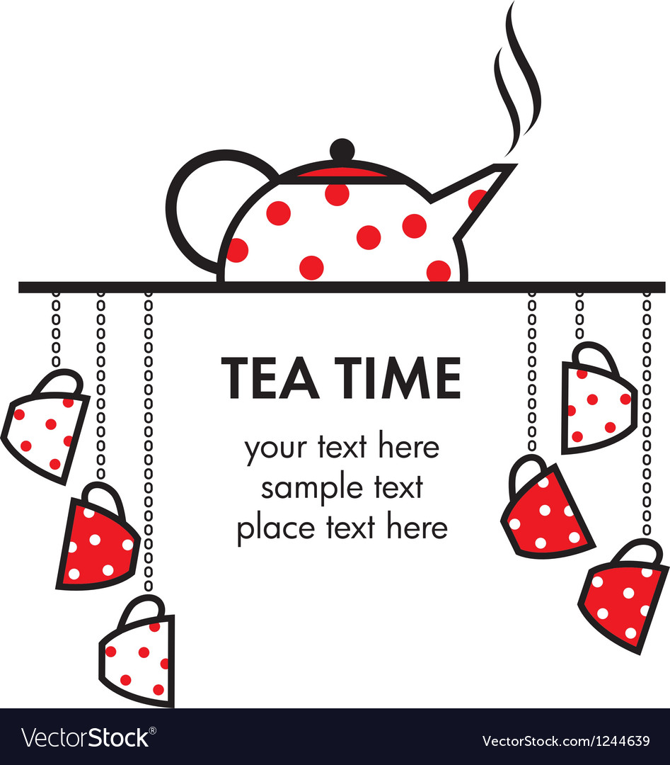 Tea time icon vector | Price: 1 Credit (USD $1)