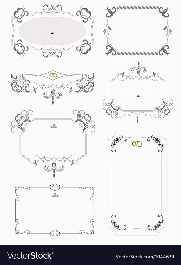 Vintage border frames vector | Price: 1 Credit (USD $1)
