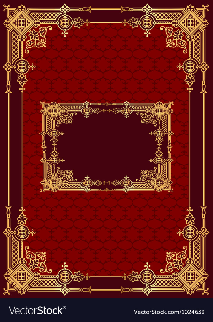 Vintage golden frame vector | Price: 1 Credit (USD $1)