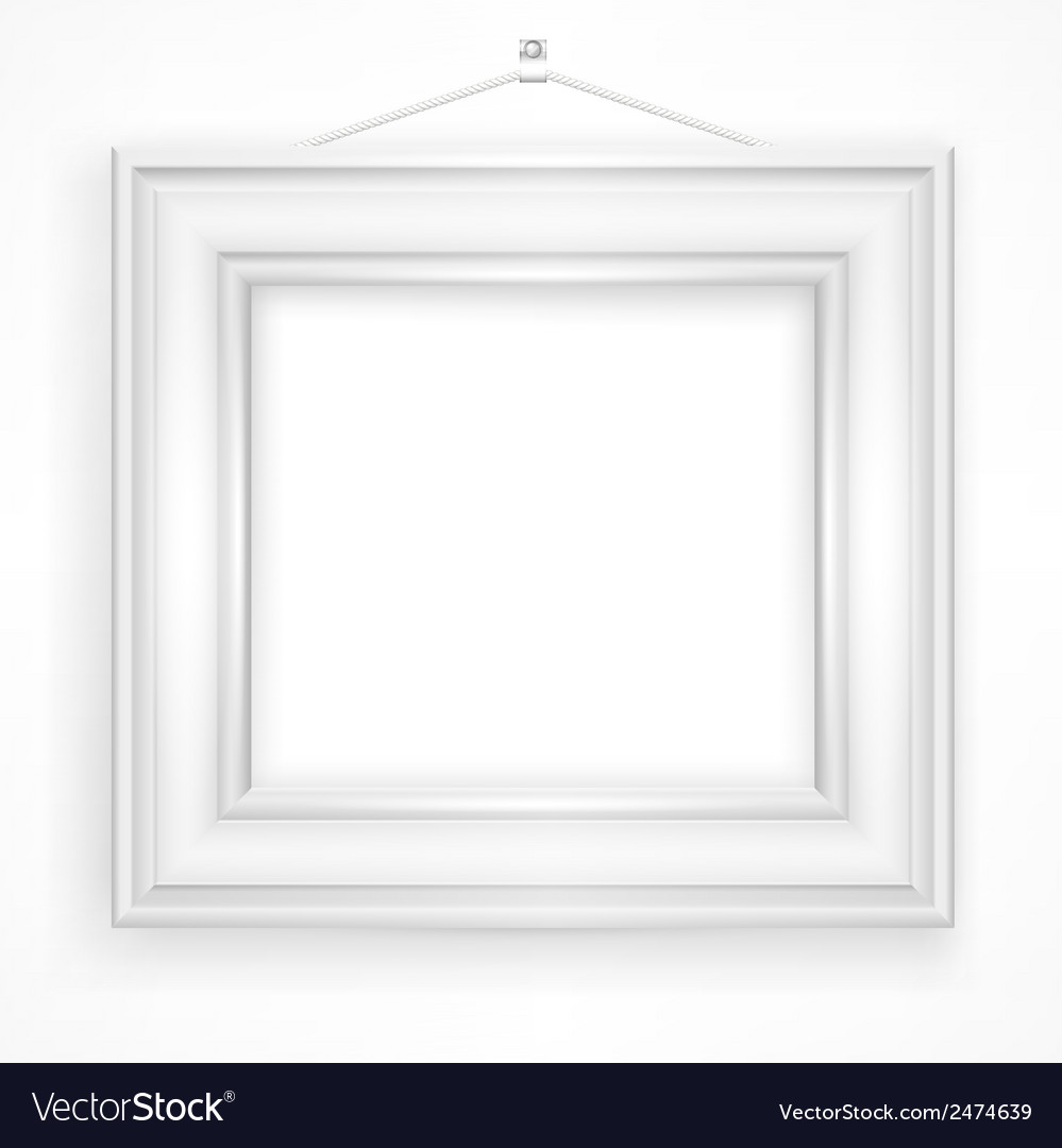 Wooden frame on white vector | Price: 1 Credit (USD $1)