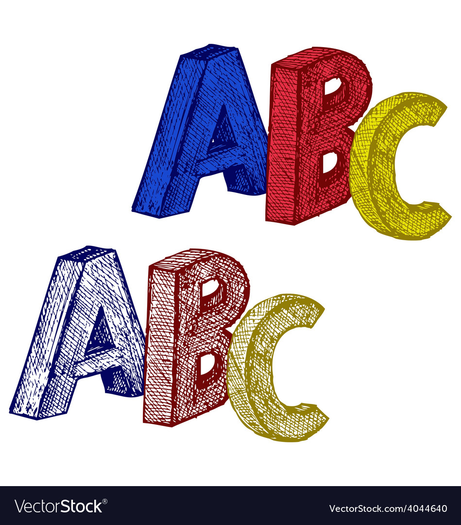 Alphabet with abc vector | Price: 1 Credit (USD $1)