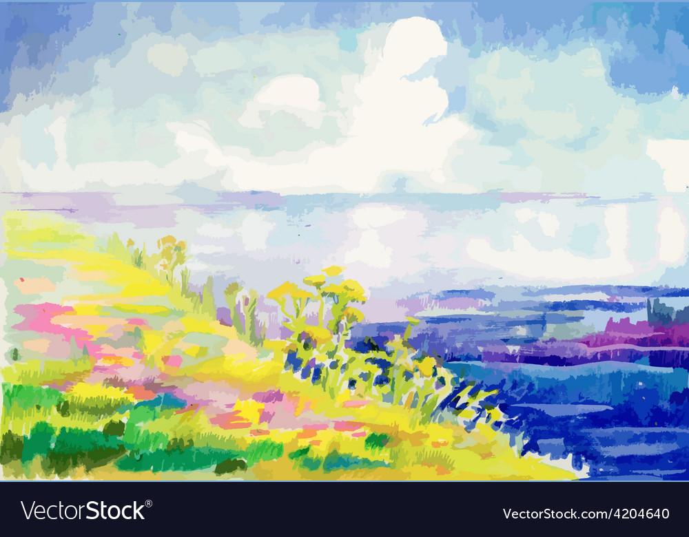 Artistic landscape design vector | Price: 1 Credit (USD $1)