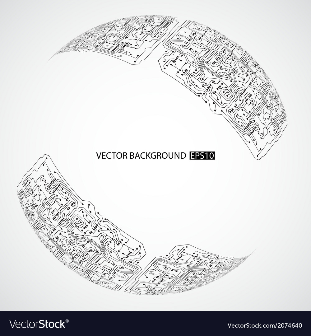 Background with circuit board texture vector | Price: 1 Credit (USD $1)