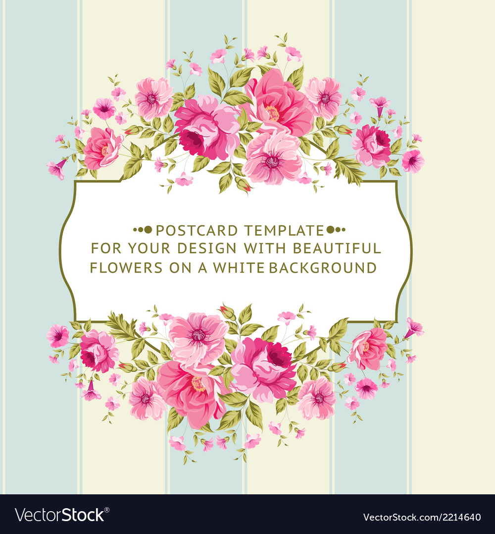 Border of flowers in vintage style vector | Price: 1 Credit (USD $1)