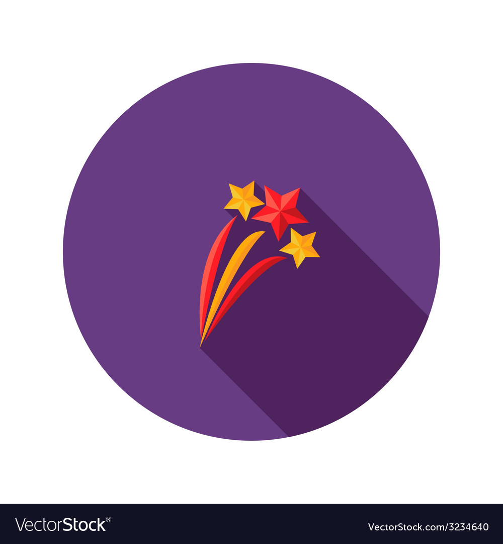 Christmas festive stars flat icon vector | Price: 1 Credit (USD $1)