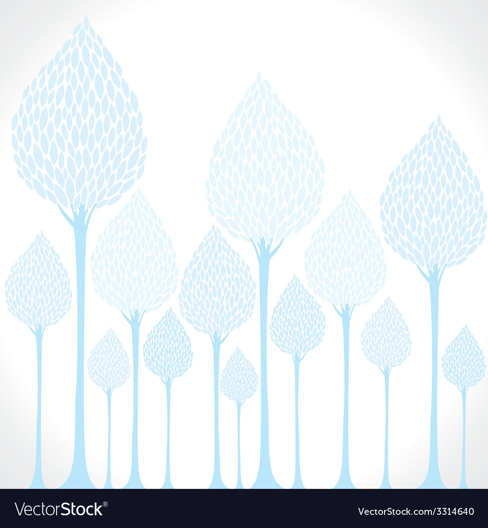 Creative blue tree background vector | Price: 1 Credit (USD $1)