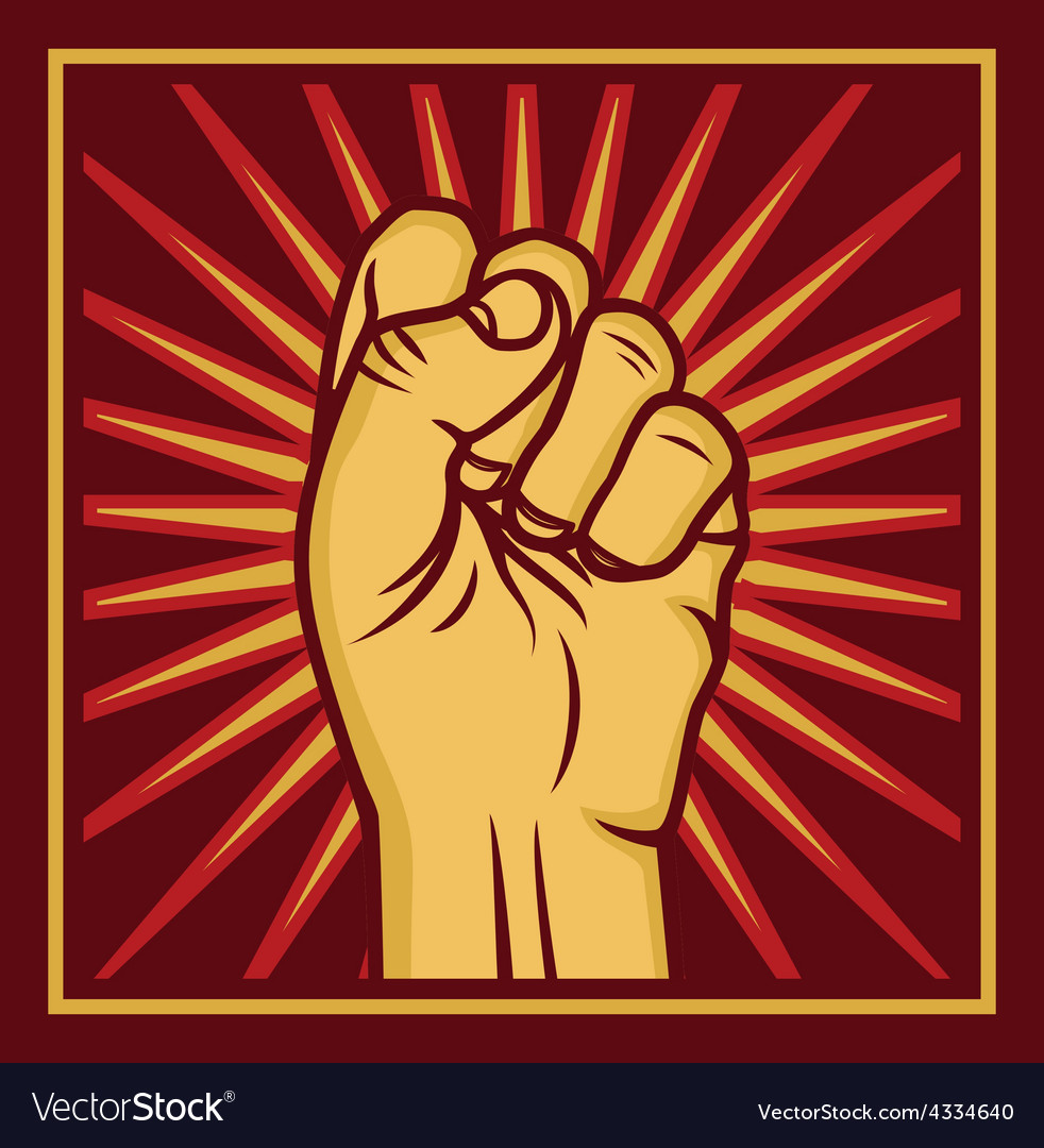Fist worker right2 resize vector | Price: 1 Credit (USD $1)