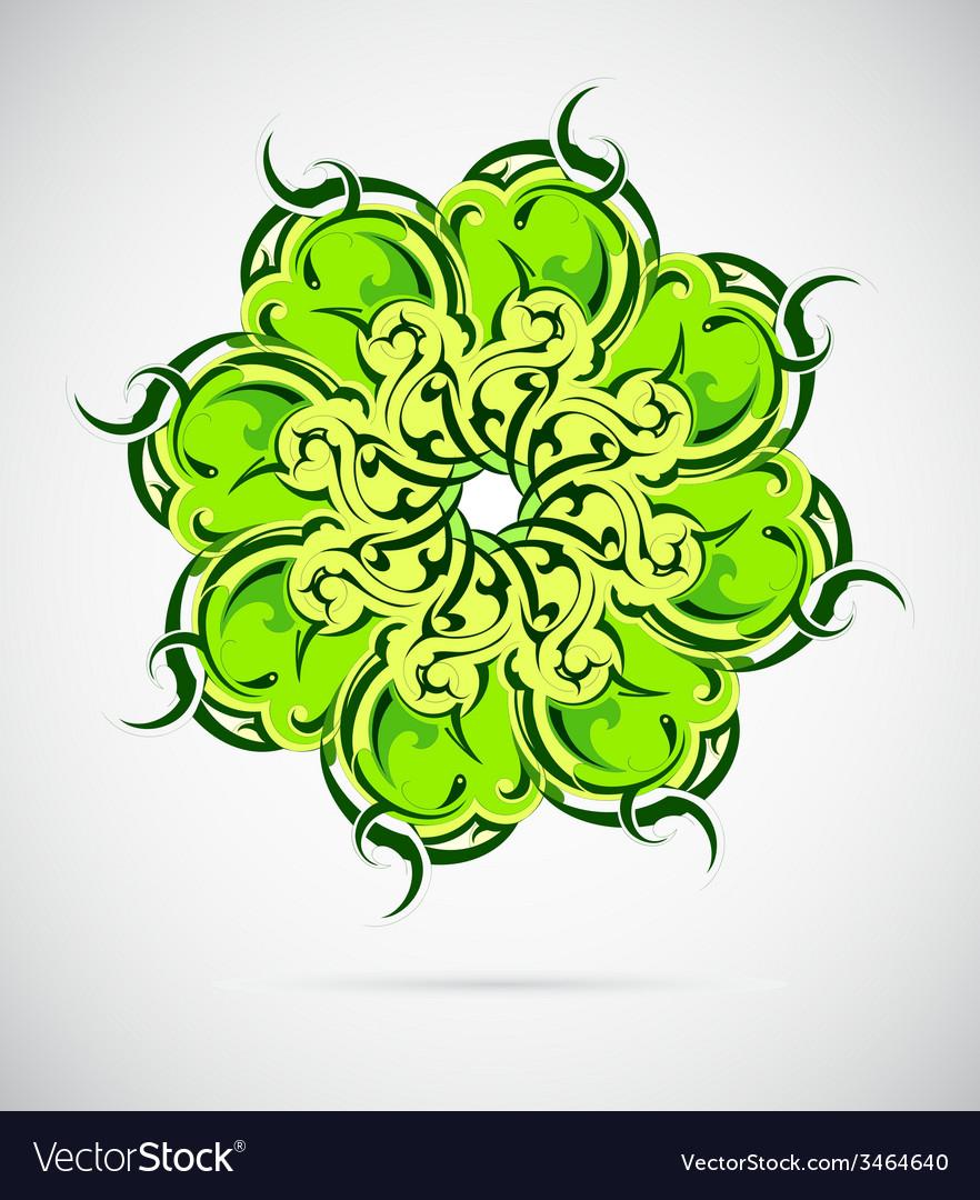 Flower ornament as round mandala vector | Price: 1 Credit (USD $1)