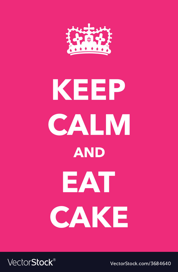 Keep calm eat cake vector | Price: 1 Credit (USD $1)