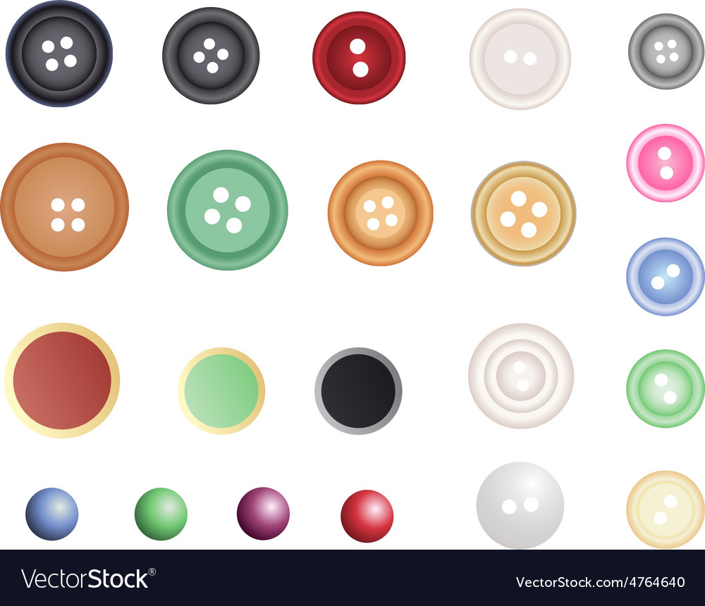 Many different buttons vector | Price: 1 Credit (USD $1)