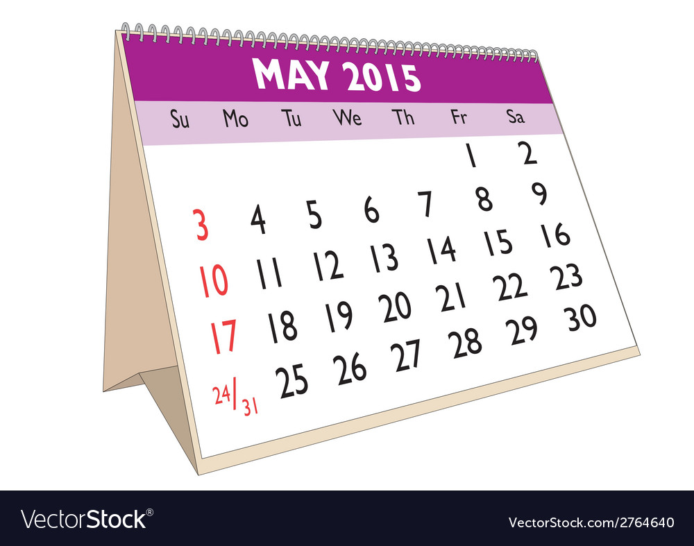 May 2015 vector | Price: 1 Credit (USD $1)