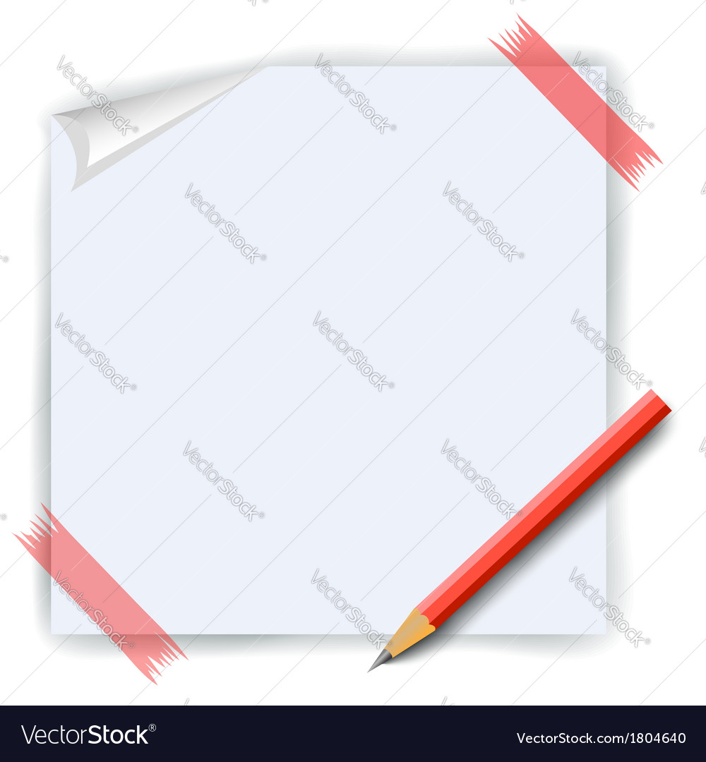 Paper and pencil vector | Price: 1 Credit (USD $1)