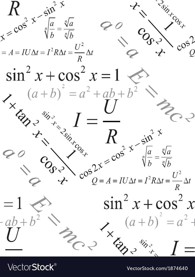 Physics formulas seamless pattern vector   Price: 1 Credit (USD $1)