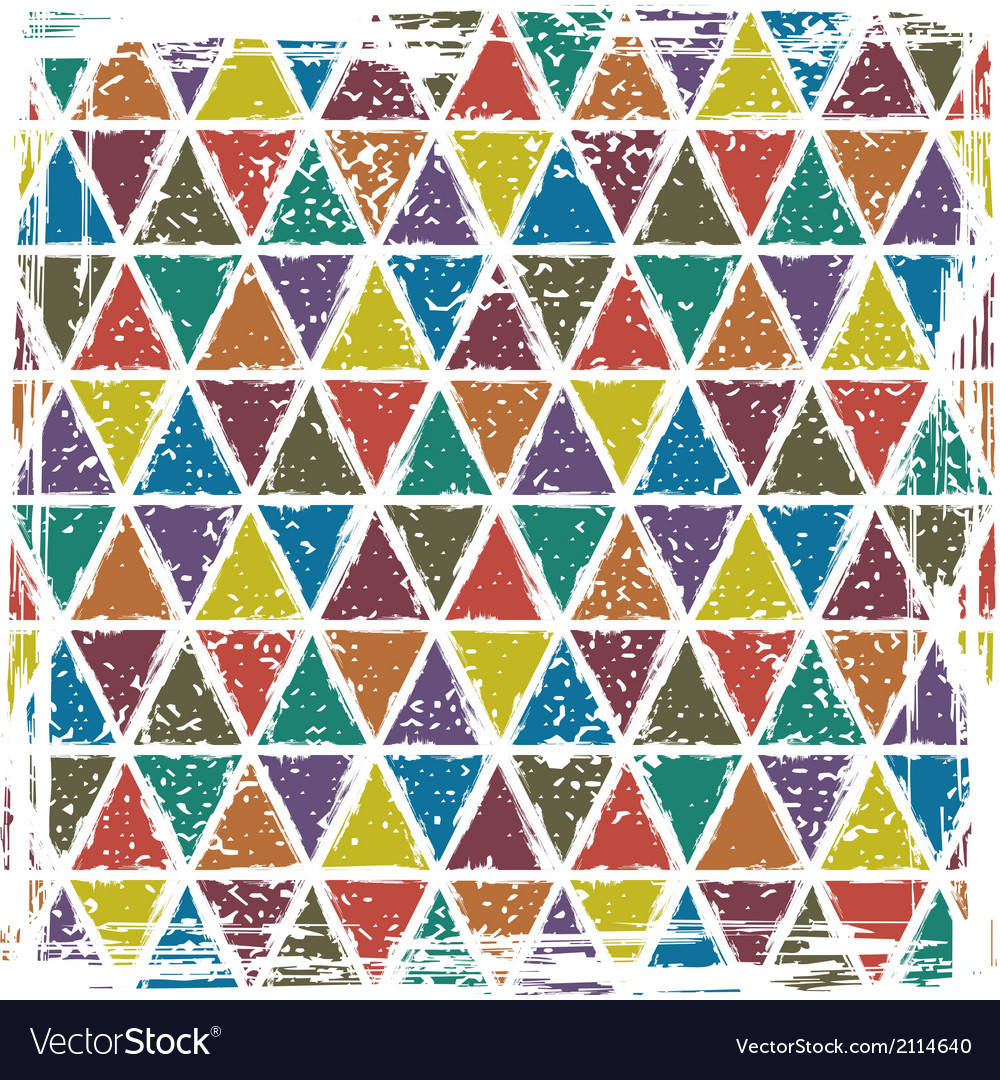 Seamless triangle grunge pattern background vector | Price: 1 Credit (USD $1)