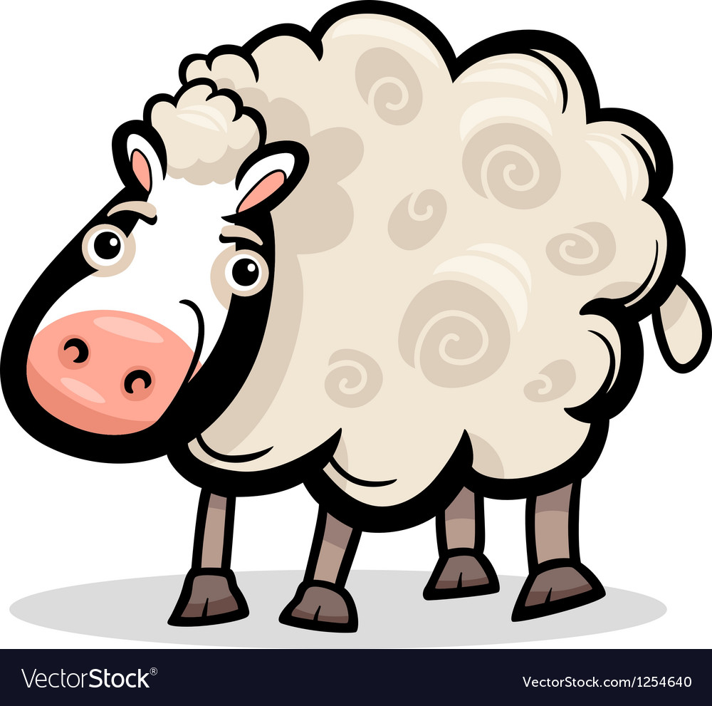 Sheep farm animal cartoon vector   Price: 1 Credit (USD $1)