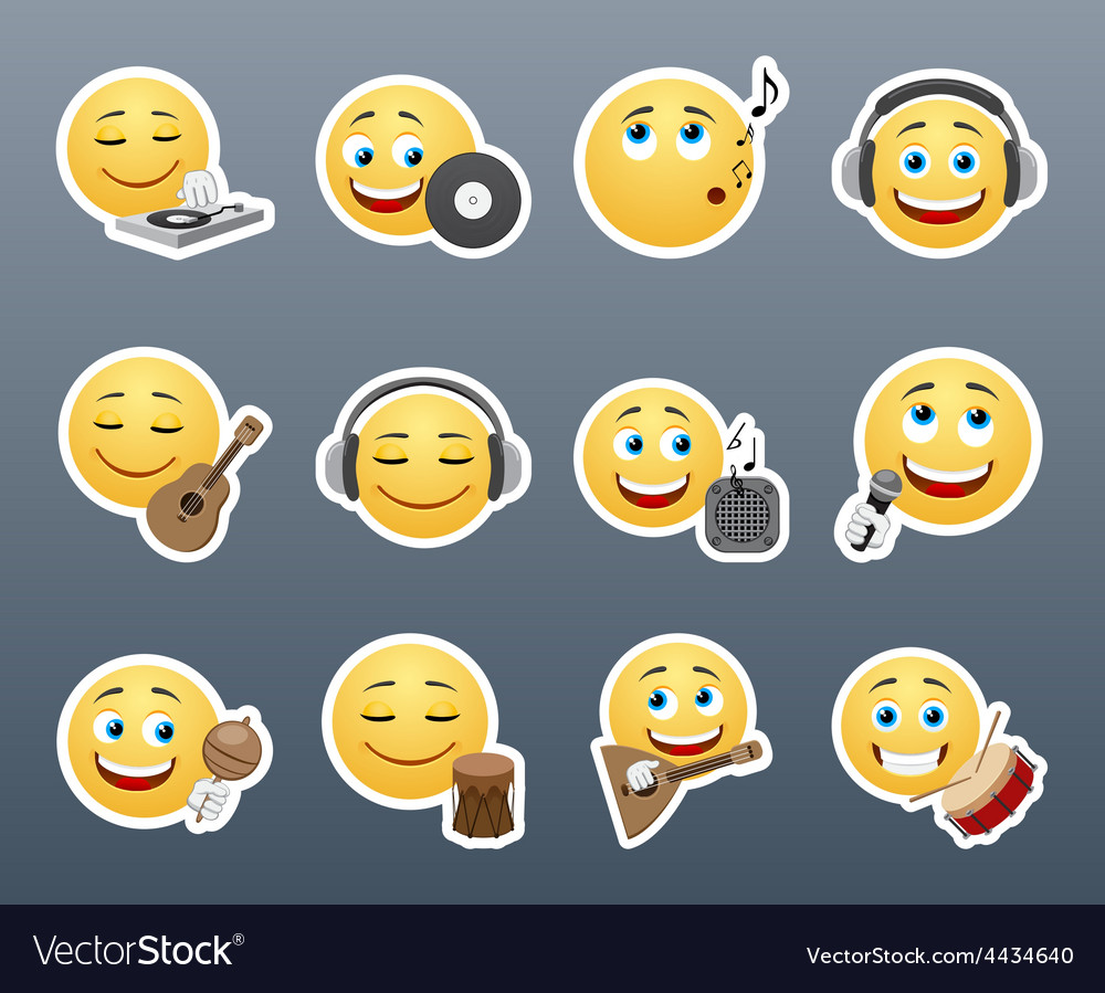 Smilies musical instruments vector | Price: 1 Credit (USD $1)