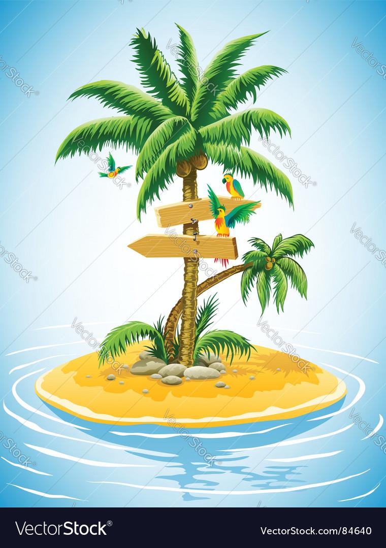 Tropical landscape vector | Price: 3 Credit (USD $3)