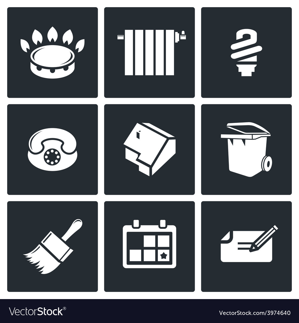 Utilities icons set vector | Price: 1 Credit (USD $1)