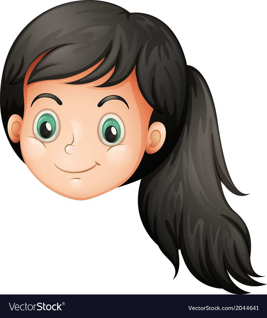 A face of a young lady vector | Price: 1 Credit (USD $1)