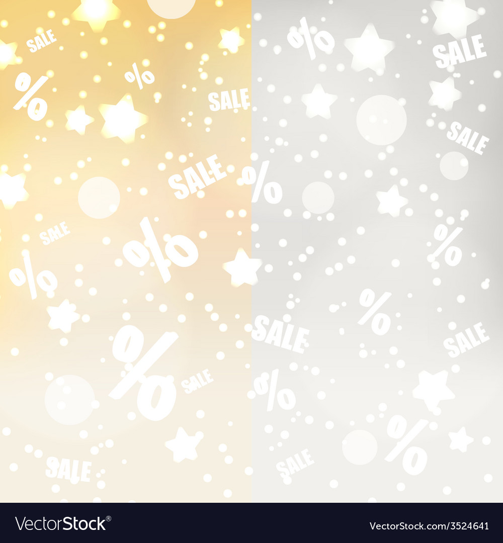 Abstract yellow and gray dots stars and sale vector | Price: 1 Credit (USD $1)