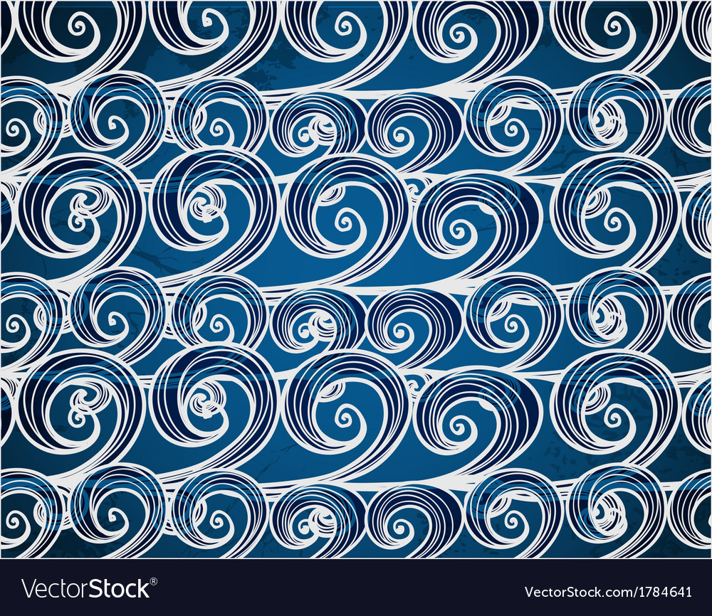 Background of hand-drawn sea waves vector | Price: 1 Credit (USD $1)