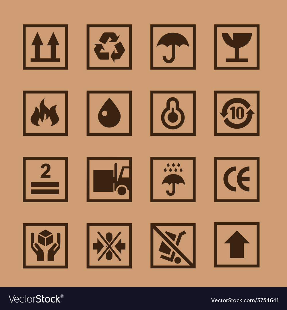 Cardboard icon vector | Price: 1 Credit (USD $1)