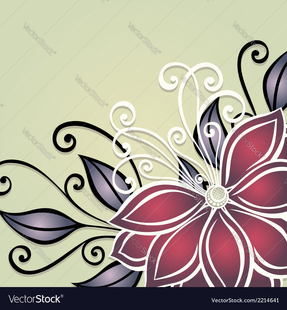Colored floral background vector | Price: 1 Credit (USD $1)