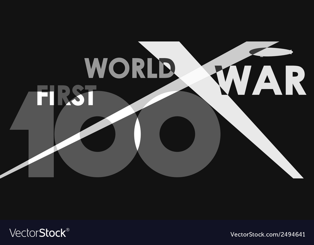 First world war centenary vector | Price: 1 Credit (USD $1)