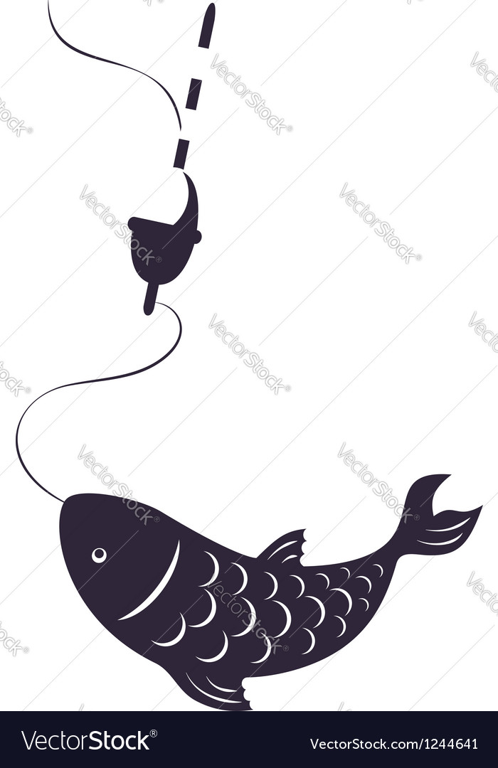 Fish on a hook vector | Price: 1 Credit (USD $1)