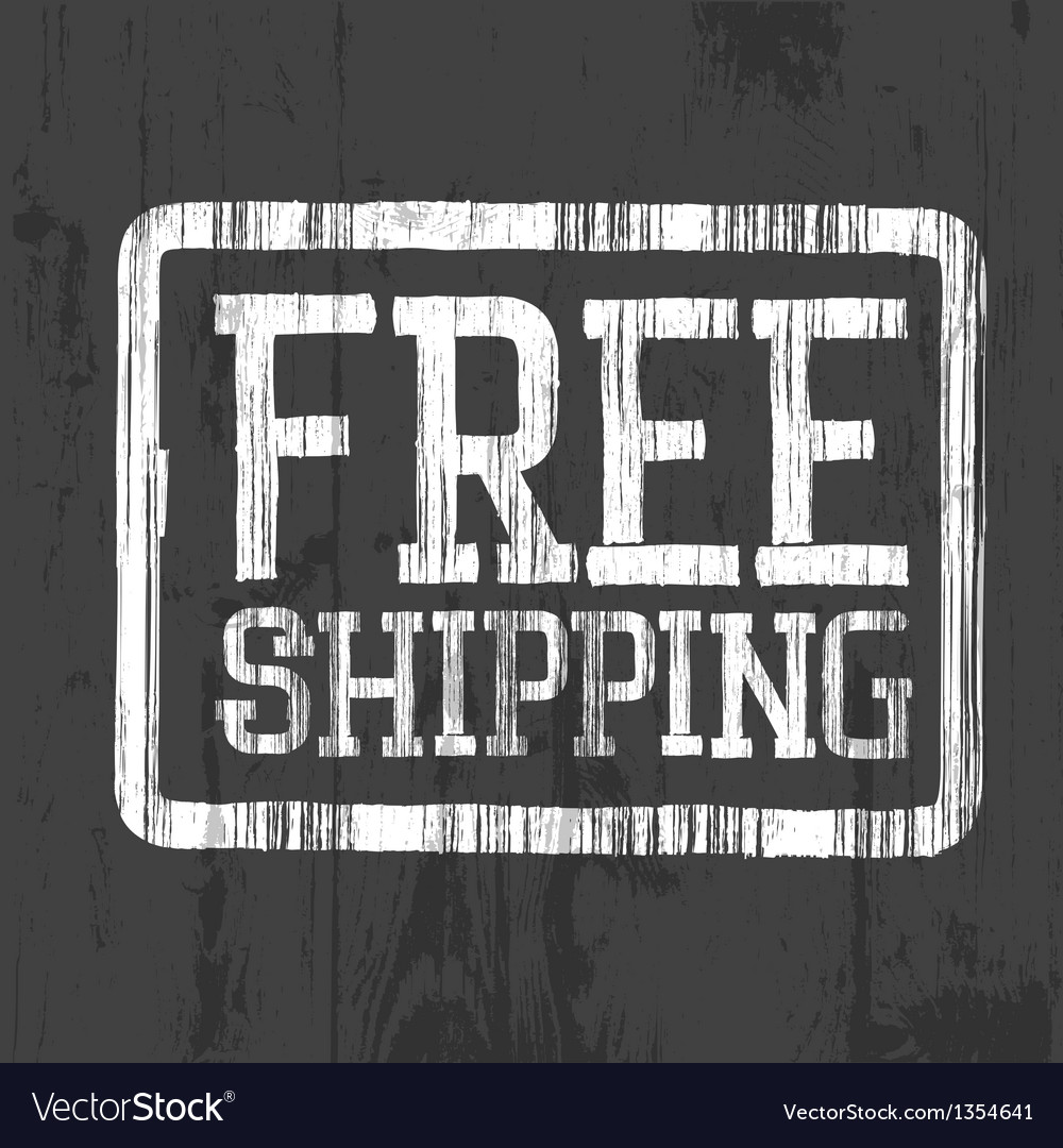 Free shipping stamp vector | Price: 1 Credit (USD $1)